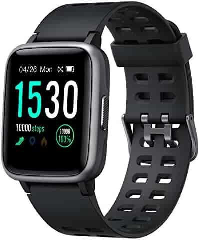 Smart Watch for Android Phone iphone,Arbily Smartwatch with Heart Rate Monitor Waterproof Swimming Smart Watch with Sleep Tracker Pedometer Step Calorie Counter,Smart Watches for Women Men Kids,Black