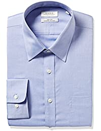 Men's Classic Fit Solid Point Collar Dress Shirt