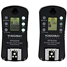 YONGNUO RF-605 N3 Flash Trigger/Wireless Remote Shutter Release Transceiver Kit for Nikon DSLR D750 D3100 D3200 D5300 D7200 D90 D5000 D7000 D7100 D5100 D600