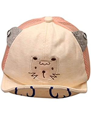 Kids Baseball Cap for Boy Tiger Cartoon Bongrace Sun Hat Breathable