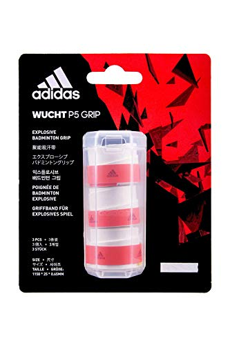 adidas Badminton Racquet Overgrip, Wucht-P5, White (Pack of 3)