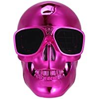 Generic Skull Head Shape Portable Wireless Bluetooth Speaker for Desktop PC/Laptop Notebook/Mobile Phone/MP3/MP4 Player-Red
