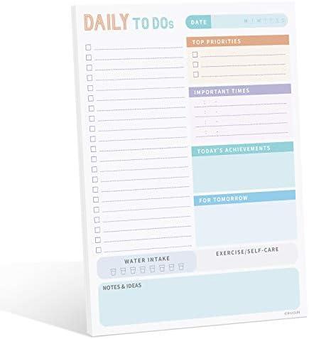 PAIVSUN 2021 Daily Planner To Do List Notepad – Undated Day Planner Note pad 7.5″x10″ – Work Planner, Calendar, Scheduler, Checklist, Productivity Organizer, Cute Office Supplies – Green