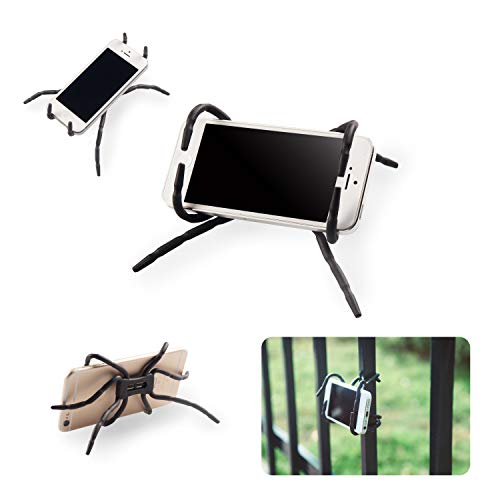 Spider Phone Holder Universal Multi-Function Spider Flexible Grip Holder Phone Car Holder Mount Stand for Smartphone(Black)