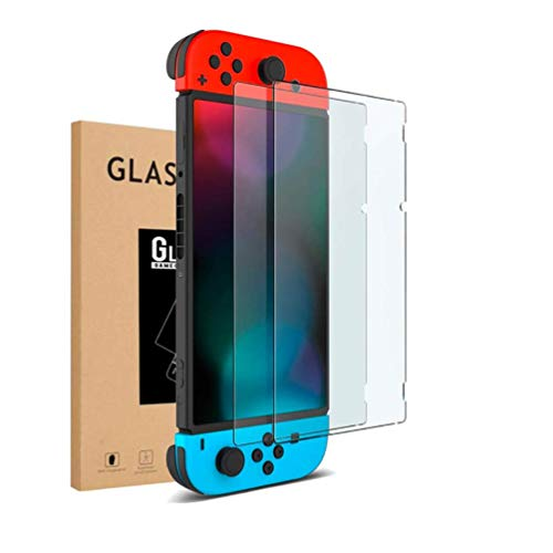 0.2mm Ultra Slim Screen Protector for Nintendo Switch(2 Pack), VANJUNN Dockable with Case Ultra Thin HD Clear Screen Protector Film for Nintendo Switch with Anti-Scratch Design(fit dockable case)