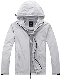 ZSHOW Men's Super Lightweight Windbreaker with Hood Breathable Quick Dry Packable Jacket for Travel