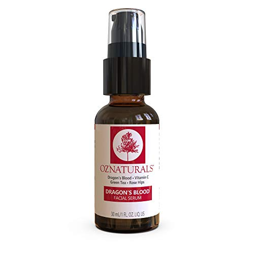 OZNaturals Dragon's Blood Serum for Face: Dragons Blood Facial Serum with Vitamin C - Face Tightening and Lifting Serum to Aid Collagen Production and Reduce Wrinkles, Fine Lines, Dark Spots - 1 Fl Oz