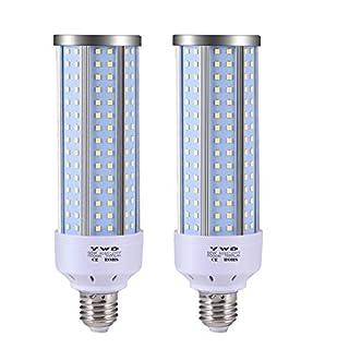 LED Corn Light Bulb 50W, LED Garage Lights,5000 Lumen 6000K, LED Street Light, E26/E27, Garage Ceiling Light, for Basement, Barn, Warehouse, Workshop, Sports Hall - 2 Pack