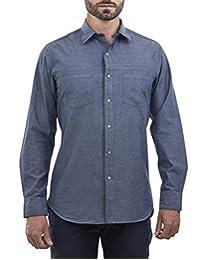 Camisa Manga Larga Slim Fit Azul Claro