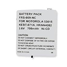 Motorola MS355R 2-Way Radio Battery (Ni-CD 3.6V 700mAh) Rechargeable Battery - replacement for Motorola 53615
