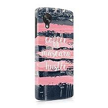 Coffee Mascara Hustle Hard Plastic Phone Case For LG Google Nexus 5