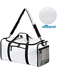 9e2c54d2b1 Women Men Travel Duffle Bag Waterproof Foldable Carry on Duffel Bag Gym  Sports Bag 60L Grey