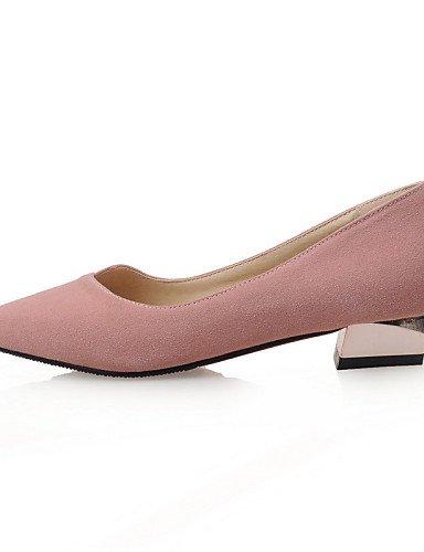 Almond-us9.5-10   eu41   uk7.5-8   cn42 DFGBDFG PDX femme Chaussures Talon bas Bout Pointu appartements Bureau & carrière robe décontracté Rose gris ahommede