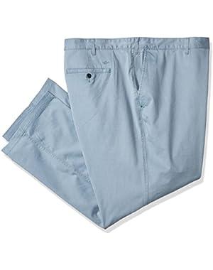 Men's Big and Tall Washed Khaki Pant