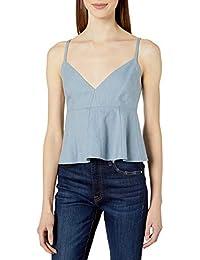 Women's Meaghan V-Neck Ruffle Woven Sportswear Crop Top