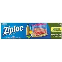 Ziploc Marinade Expandable Bottom Bags, 1/2 Gallon 24 ea (Pack of 6)