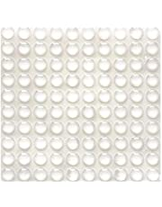 100 Pieces Rubber Feet Pads Adhesive Buffer Pads Door Bumpers Self Stick Noise Dampening Pads Small Clear Soft Close Cabinet & Furniture Bumpers 9 mm Diameter x 3 mm (Clear)