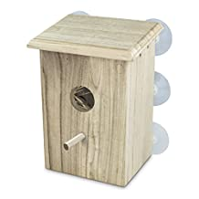 PetsN'all Real Wood Bird Nest - Window Bird house