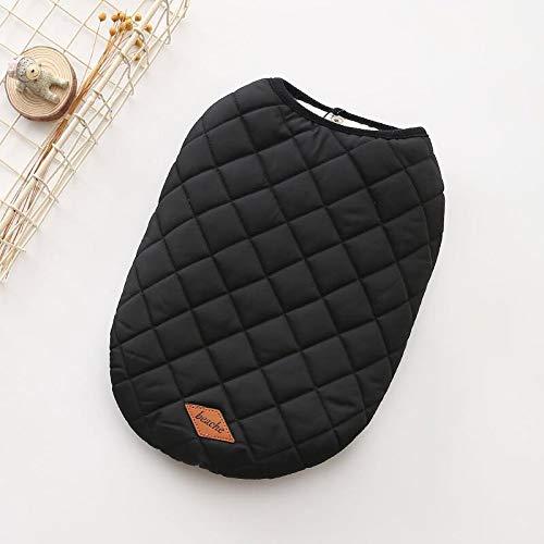Black M Black M Yetta Dog cotton vest autumn and winter new pet cotton cotton warm pet clothes (color   Black, Size   M)