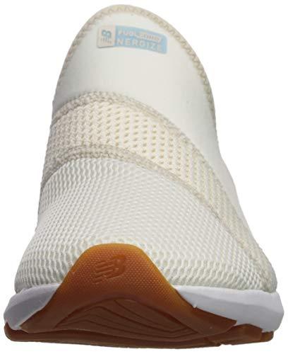 New Balance Women's FuelCore Nergize Slip-On V1 Sneaker, Sea Salt/Moonbeam/Summer Sky, 6 W US