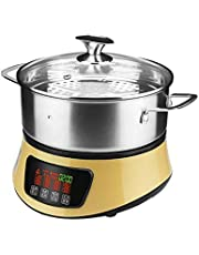 ECSWP El Vapor eléctrica de múltiples Funciones del Vapor Caliente casa Olla Grande de Acero Inoxidable Capacidad 304 eléctrico Hot Pot Pot Sauna