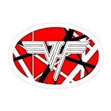 Pacipic Beach 3Pcs/Pack Van Halen Oval Logo Sticker