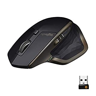 Logitech MX Master Wireless Mouse – High-precision Sensor, Speed-Adaptive Scroll Wheel, Easy-Switch up to 3 Devices - Meteorite Black