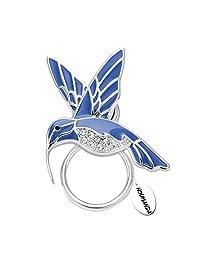 NOUMANDA Nature Jewelry Enamel Hummingbird Magnetic Eyeglass Holder Blue Bird Magnetic Brooch