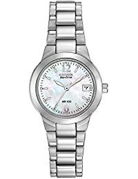 Womens Eco-Drive Watch with Date, EW1670-59D