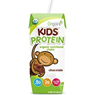 Orgain Kids Protein Organic Nutritional Shake, Chocolate, Non-GMO, Gluten Free, 8.25 Ounce, 12 Count