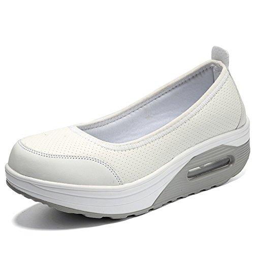 the latest 7de2d 8a75d Women s Shape Shape Shape UPS Breathable Sneakers Mesh Wedges Slip-On Work  Out Casual Walking Shoes for Women B07D25MMM8 Parent 0328b0