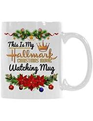 Coffee Mug This Is My Hallmark Christmas Movie Watching Mug Tea Cup Ceramic Coffee Mug 11 Ounce