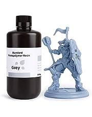 ELEGOO LCD UV 405nm Rapid Resin voor LCD 3D Printer, Fotopolymeer Kunsthars Vloeibare 3D Printmaterialen Grijs 1000g
