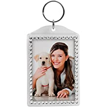 Rhinestone Acrylic Photo Snap-In Keychain (1)