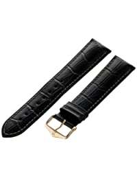 Hirsch 010280-50-20Y 20 -mm  Genuine Leather Alligator Embossed Watch Strap