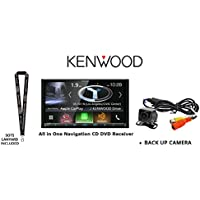Kenwood DNX874S In Dash Navigation System 6.95 Touchscreen Display, Built in Bluetooth. HD Radio, with a Universal Backup Camera and a FREE SOTS Lanyard