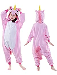 260ca4b002 Kids Unicorn Onesie Pajamas One-Piece Animal Cosplay Costume for Xmas  Halloween