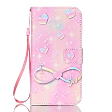Galaxy S7 Edge Wallet Case, SAVYOU S7 Edge Phone Cover Case Flip PU Leather Wallet Flip Case Stand Cover Case for Samsung Galaxy S7 Edge (ER-Pink knot)