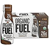 'Organic Valley, Organic Fuel, Organic Milk Protein Shake, Chocolate, 11 Ounces (Pack of 12)' from the web at 'https://images-na.ssl-images-amazon.com/images/I/41+6Py9JiZL._AC_SR160,160_.jpg'