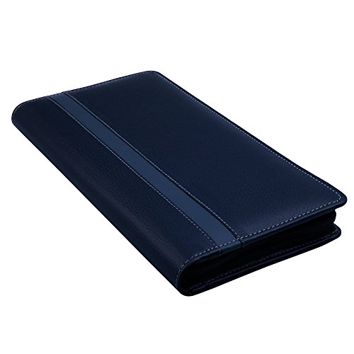 Coi Leatherite Black And Grey Cheque Book Holder Document Folder ,Black & Grey