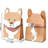 "GOTOME Christmas Animal Gift Bag Origami Paper Tear to Open Gift Bag, 2017 Red Dot Desgin Award, Shiba Inu, Large, 7.5""x3.9""x10.6"" (19x10X27cm)"