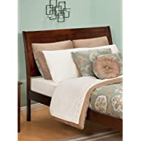 Atlantic Furniture Portland Twin Headboard in Antique Walnut - Queen