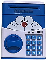 Kids Mini Electronic Money Bank Coin Cash Saving Box,blue