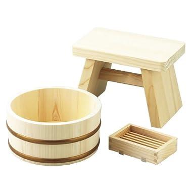 Kishida industry wooden bath set 502 310-502 (japan import)