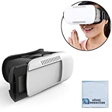 VR BOX: 3D Virtual Reality Glasses for All Smartphones such as: iPhone 6, 6 Plus, 5s, 5, Samsung Galaxy, Android Phones &More + eCostConnection Microfiber Cloth