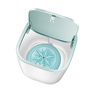 2020 New Upgraded Portable Washing Machine, Folding Fully automatic Laundry Machine, Turbine Washer, USB Cable, Low Noise, Mini Washing Machine for Camping, Dorms, Apartments,Business Trips (Bule)
