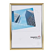 EASA4GDP-FBA Easy Loader Frame A4 Certificate / Photo / Poster Frame in Gold with Non Glass Front