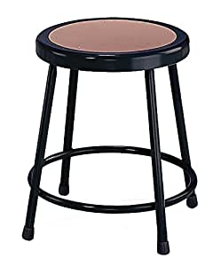 "NPS 18"" High Heavy Duty Steel Stool, Black"