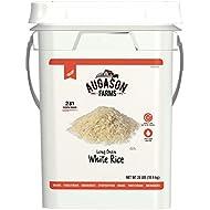 Augason Farms Long Grain White Rice Emergency Food Storage 24 Pound Pail