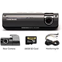 Thinkware F770 1080P HD WiFi Dash Camera with Rearview Camera, 64 GB SD Card and 2 Power Harness (3 Items)